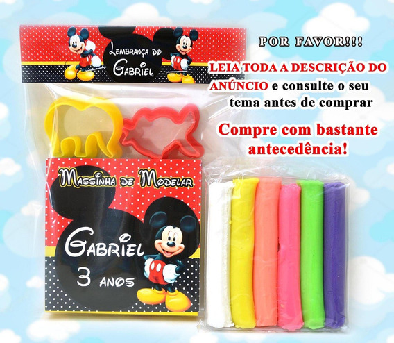 40 Kit Massinha Modelar Personalizada + Moldes Lembrancinha