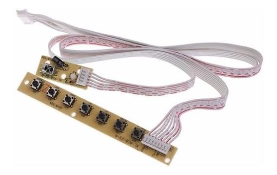 Teclado Universal 7 Chaves Interruptor Placa Controladora Tv