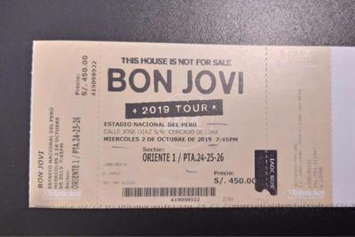 Entradas Para Concierto Bon Jovi