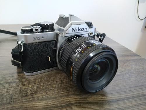 Nikon Fm2 Com Lente Nikkor Af 35-80mm