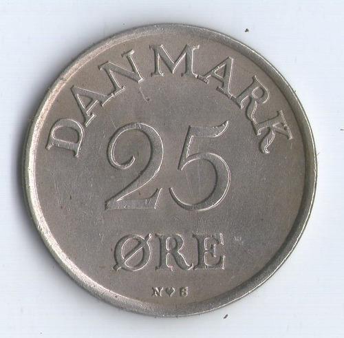 Moneda De Dinamarca  25 Ore 1949