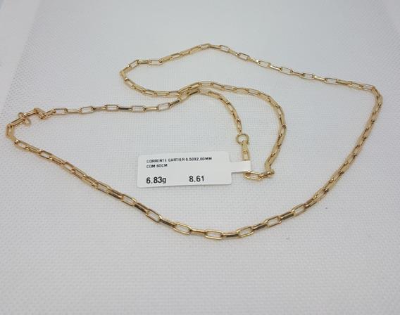 Corrente Em Ouro 18k 750 Cartier Impecável 6,83g Com 60cm
