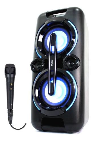 Caixa De Som Amplificada Subwoofer Mp3 Philco Microfone