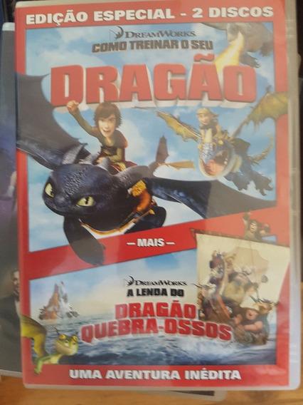 Como Treinar Seu Dragão Ed. Especial Dois Filmes Frete $ 9