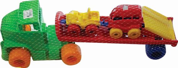 Camion De Transporte Con 2 Autos Grande Oferta Nene
