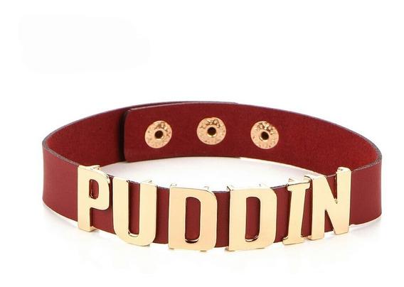 Gargantilha Colar Harley Quinn Arlequina Puddin Vermelho 1pc