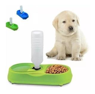 Plato Dispensador Portatil Comida Y Agua Perro / Gato Doble