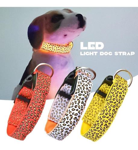 Collar Led Mascota Perro Gato Paseo Seguridad Talle L   L122