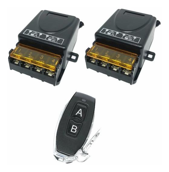 Interruptor Sem Fio Controle Remoto 2 Canais 12v 24v 30a Max