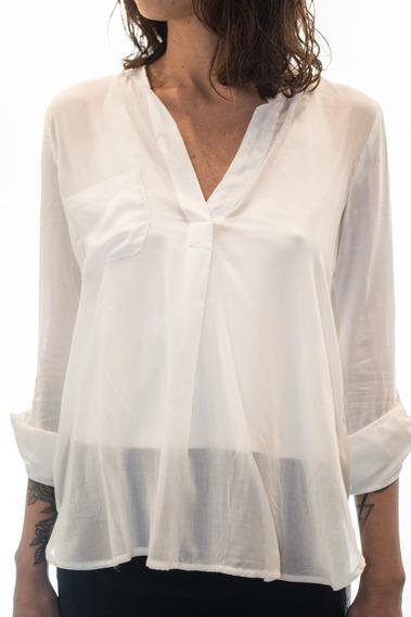 Camisola Blusa Basica De Mujer Blanca - Directo De Fábrica!