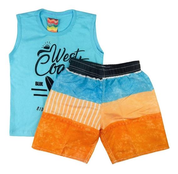 5 Roupas Infantis Algodão Estampado Verão Blusas Camisetas