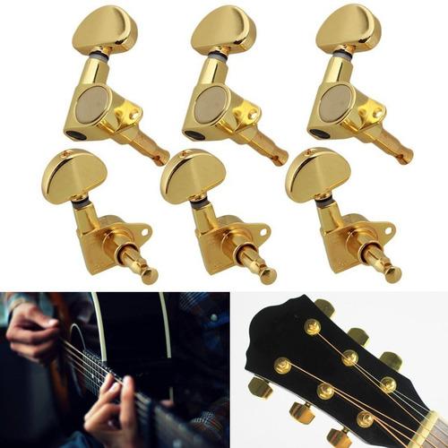Clavijas De Afinaci/ón De Cuerdas De Guitarra De 6 Piezas Para Reemplazo De Guitarra Ac/ústica De 6 Cuerdas 6R