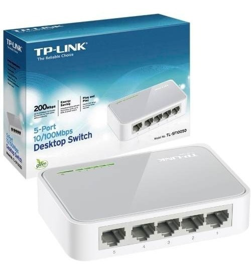 Switch 5 Puertos 10/100 Tp Link Tlsf1005d Gtia 1 Año Bagc