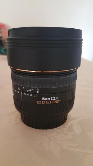 Lente Sigma 15mm F/2.8 - Pouquíssimo Uso