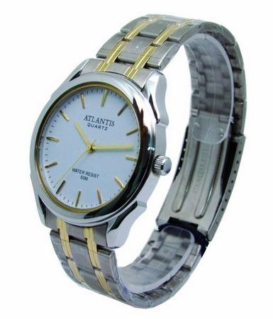 Relógio Atlantis G6457 Prata Fundo Branco Unissex - Envio Já