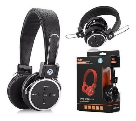 Fone De Ouvido Headphones Sem Fio Wireless B-05 Micro Sd Fm