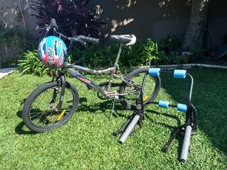Bicicleta Musetta Viper R20 Cross + Casco + Portabicis .