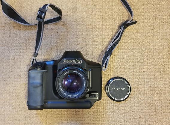 Câmera Canon T90 Analógica C/ 02 Lentes & Acessórios