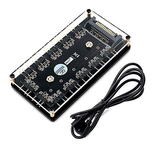 Imagen 1 de 7 de Hlt 12 Vías 5v 3 Pin Argb Hub Rgb Led Splitter Hub Con Pmma