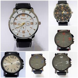 Reloj Pulsera Hombre Silicona Grande Varios Colores Por 5