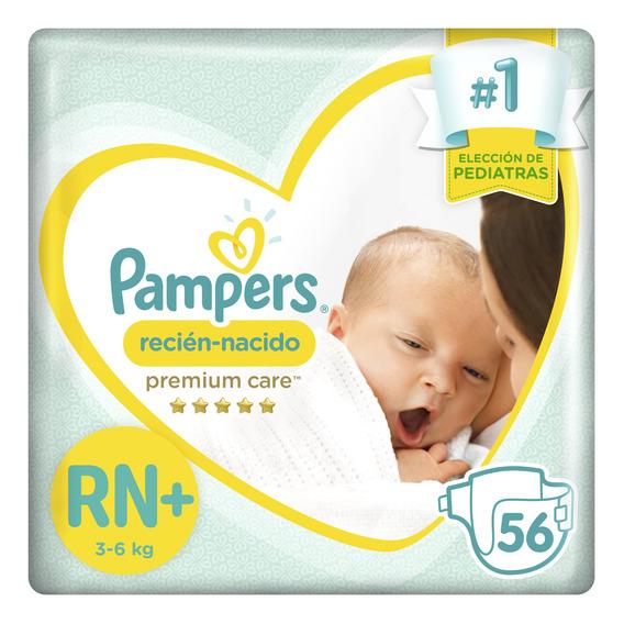 Pañales Pampers Recién Nacido Premium Care - Rn+ X 56 Unidad