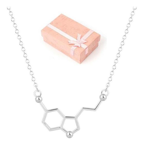 Collar Serotonina Molécula De La Felicidad + Estuche N-335 P