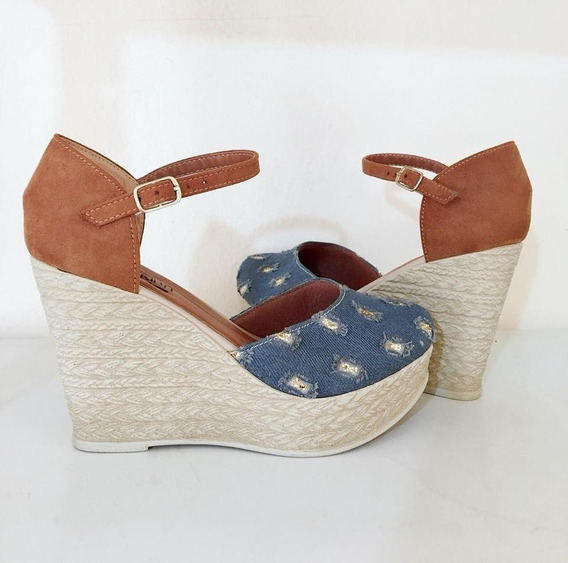 Sandália Feminina Sapato Salto Alto Jeans Promoção Top