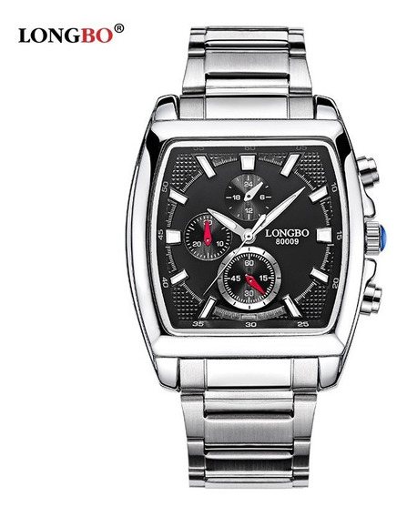 Relógio Masculino Longbo Original Aço Inox Promoção C\estojo
