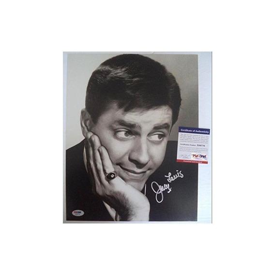 Jerry Lewis Comic Legend Actor Firmado Autograph 11x14 Foto