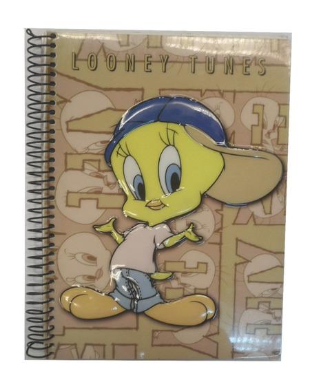 Cuaderno Tapa Relieve 120 Hojas Rayadas Looney Tunes E1104
