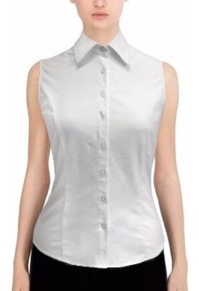 Camisa Elastizada Entallada Sin Manga Para Mujer (s-06)