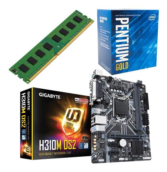 Combo Pc Intel G5400 + Giga H310m + Ddr4 4gb 2400 Martinez