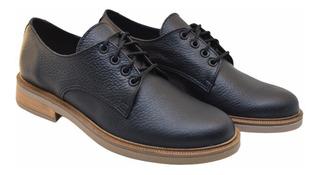 Zapatos Acordonados Cuero Sneakers Primavera Verano Mujer
