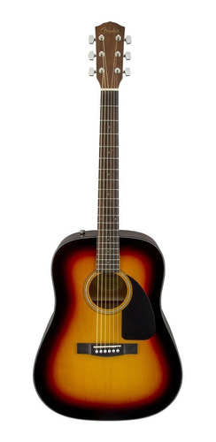 Imagen 1 de 4 de Guitarra acústica Fender  Classic Design CD-60 sunburst