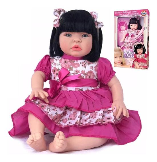 Boneca Tipo Bebe Reborn Barato Promoção Morena Na Caixa