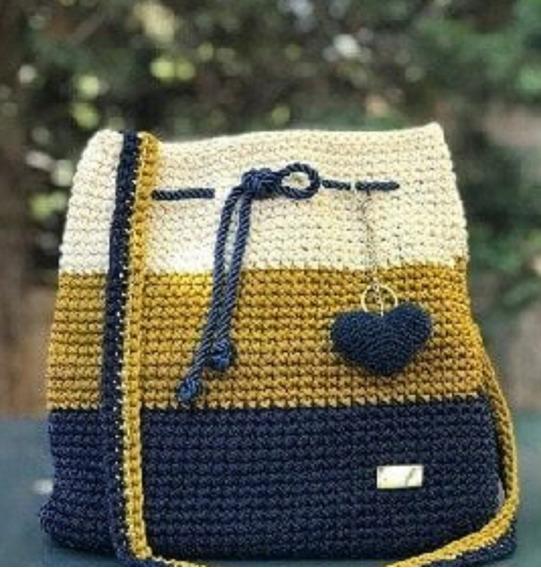 Bolso Playero Totora Crochet