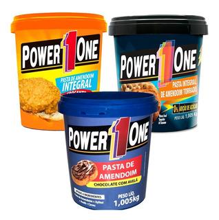Promoção - 3x Pasta De Amendoim Power One 1 Kg - Carboidrato