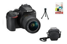 Nikon D5600 + 18-55mm + 32gb + Bolsa + Tripé Garantia Sjuros