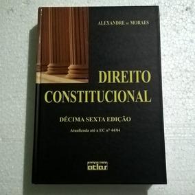 Livro Direito Constitucional Alexandre De Moraes- 16ª Edição