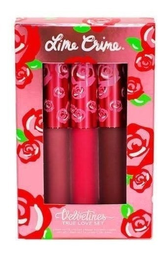 Lime Crime True Love Lipsticks Velvetines Trio Set Labiales