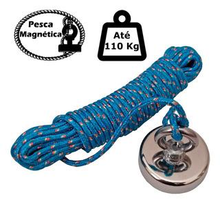 Imã De Neodímio Para Pesca Magnetica Até 110 Kg De Tração