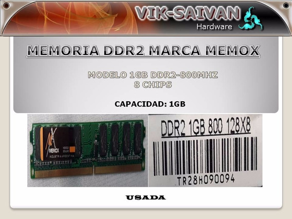 Memoria Ddr2 Memox 1gb Pc2-6400 800mhz 8 Chips 34