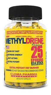 Methyldrine Amarelo 100 Cap Original Importado Cloma Pharma