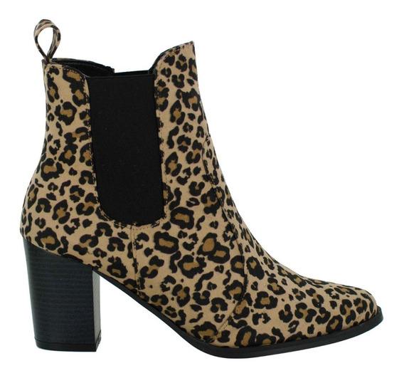 Botín Estampado Leopardo Para Dama. Vicenza 7802-leopardo