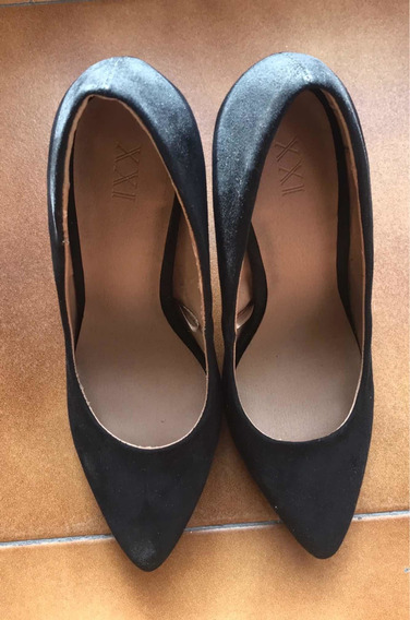 Zapatos Taco Alto De Forever Xxi Usados Una Vez