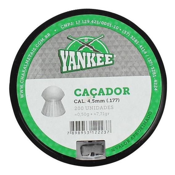 Chumbinho Munição Carabina Pressão Yankee Caçador 4.5mm 200n