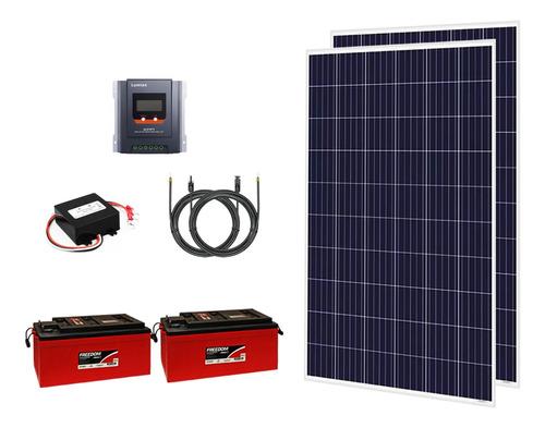 Kit Off Grid 2x Painéis 280w + 2x Baterias 240 Ah + Mppt 30a