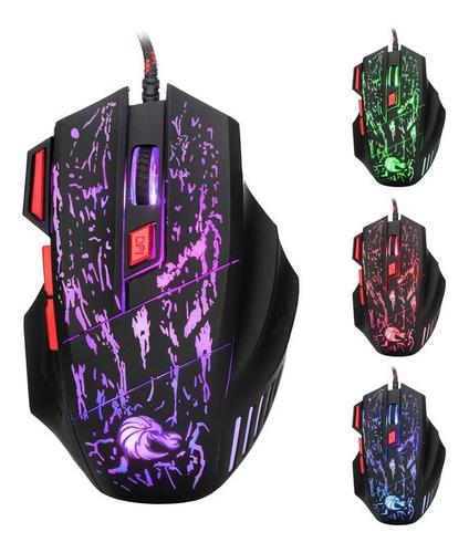 Mouse Con Cable Gaming Para Juego En Computadora Usb