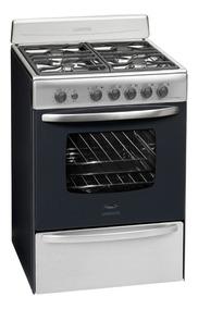 Cocina A Gas Longvie 18601xf 60cm Inox Encendido Una Mano