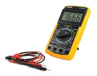 Tester Digital Dt9205 Mide Amperaje Voltaje Ohms Diodos, Etc